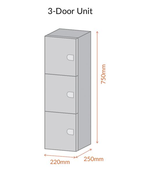 3 Door Unit